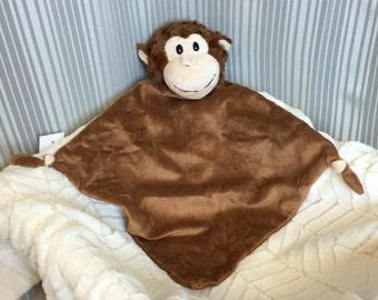 Personalized Baby Blanket - Monkey