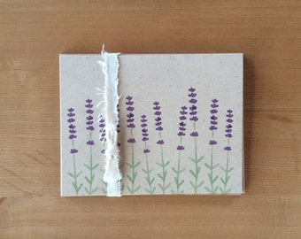 Lavender Stems Blank Note Cards – Pack of Four