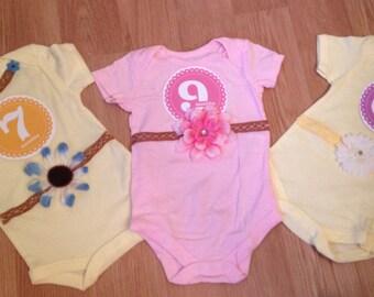 Baby Onesie 6-9 months Photo Op Baby Onesie Bodysuit
