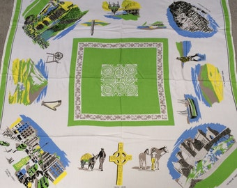 Fabulous Ireland souvenir tablecloth