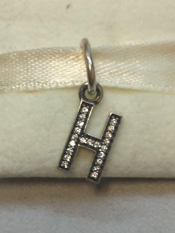Authentic pandora silver letter h charm 791320cz for Letter h pandora charm