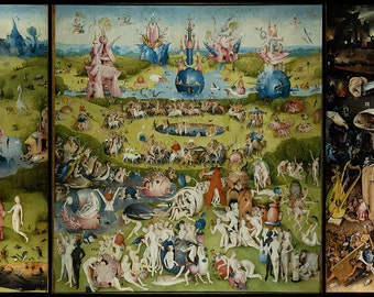 The Garden Of Earthly Delights HIERONYMUS BOSCH ART Fabric poster