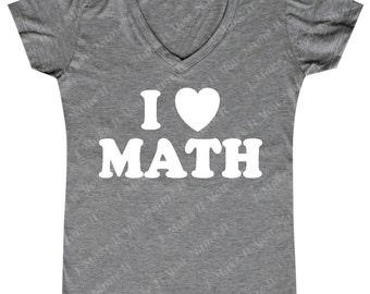 I heart Math - Ladies' V-Neck