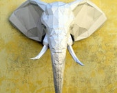 Make Your Own Elephant Sculpture. | Papercraft Elephant | African Elephant | Elephant Tusk | Wild Animals | Safari | PlainPapyrus | Tusk