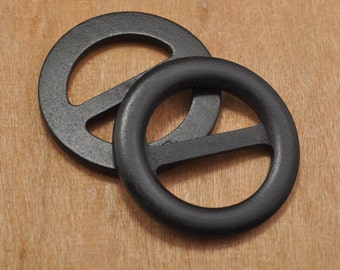 Wood Buckle,8pcs 59mm Black wood buckle wooden belt buckle,round buttons.round buckle.