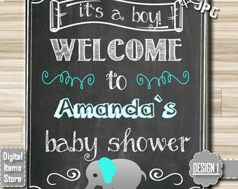 Welcome Sign Baby Shower, Welcome Chalkboard Sign, Welcome Chalkboard Sign, Welcome Chalkboard Baby, Its A Girl, Its A Boy, Elephant Sign