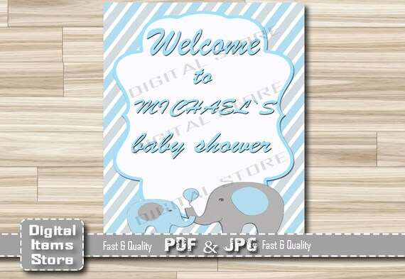 welcome sign baby shower welcome baby shower sign blue welcome