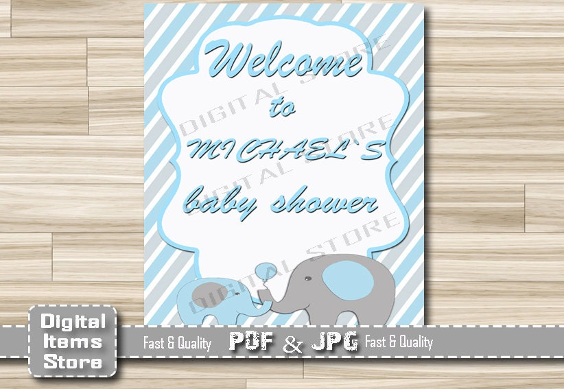 elephant welcome sign baby shower welcome baby shower sign