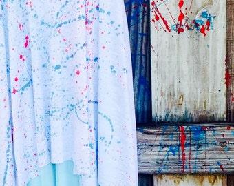 Tween Girls Dress/Girls Dress/Unique Gift/Gift/Splatter Paint Dress/Girls Clothes/Tween Clothes/Tween Dress/Miami Dress