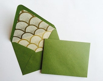 Lined Enveopes- Green