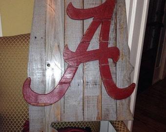 Alabama State wooden sign