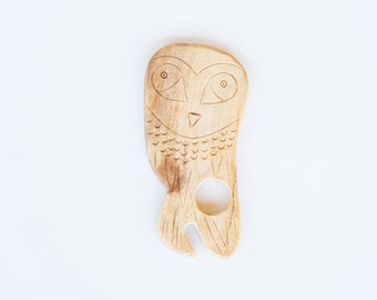 Owl Wooden Teether