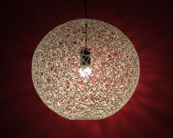 April, Modern Sphere Pendant Lamp made of thread