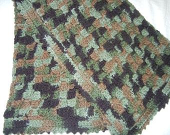 Crochet Baby Blanket, Camouflage Baby Blanket, Crochet Camouflage Baby Blanket, Baby Camo, Baby Camo Blanket, Baby Camo Afghan