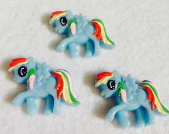 My Little Pony flatback resins- set of 3