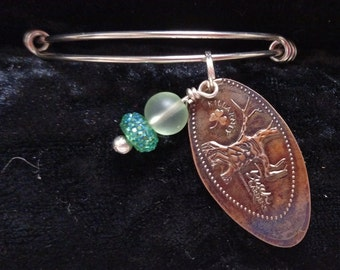 Busch Gardens Pressed Penny Souvenir Bracelet