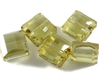 Swarovski Crystal 14mm Stairway Bead 5624 Golden Shadow