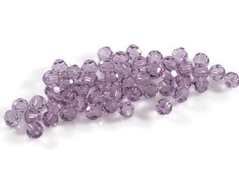 Swarovski Crystal 5mm Round Bead 5000 Light Amethyst