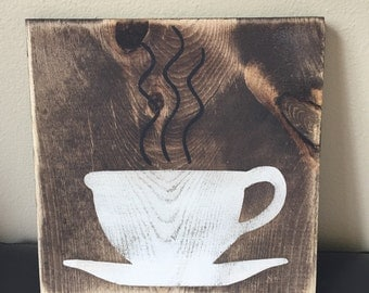 Wooden Coffee Sign/ kitchen decor