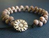 Goddess Bracelet - Lavender Cat's Eye Beads