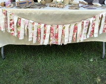 Shabby Chic Fabric Garland