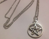 Pentagram Silver Five Point Star Necklace