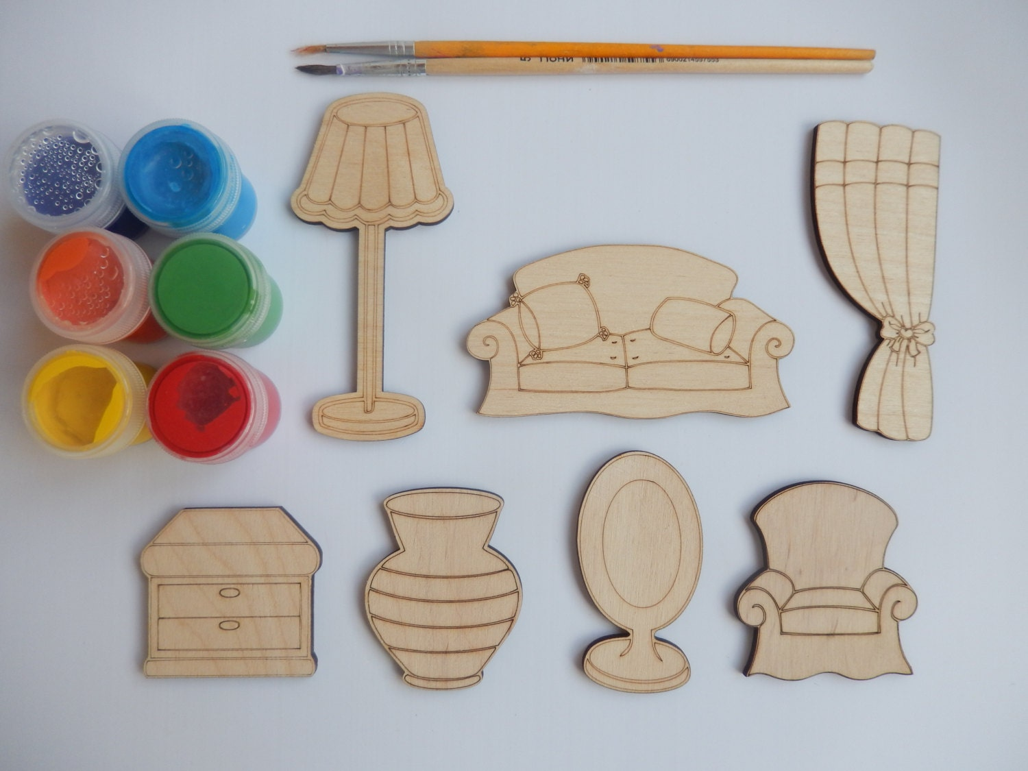7 furniture wooden craft shapes for kids and adult for Wood craft supply stores