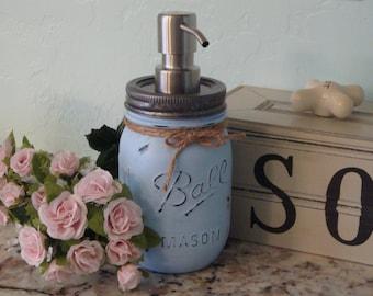 Ball Pint Mason Jar, 17 Add'l Colors, Vase, Soap Dispenser, Lotion Dispenser, Bathroom, Kitchen, Bronze Pump,Nickel Pump,Shower,Hostess,Gift