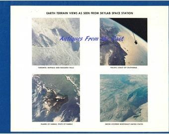 1974 NASA Original Press Release Photo jscl-125, Earth Terrain Views as seen from Skylab Space Station