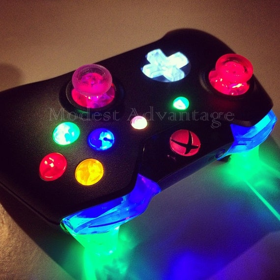 Xbox One Controller Full Led Mod Choose Your Button Colors