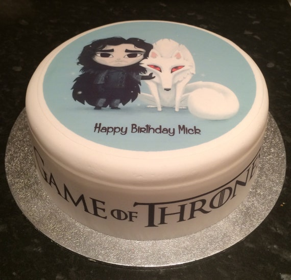 jon snow wedding cake topper of thrones jon snow ghost pre cut large 16610