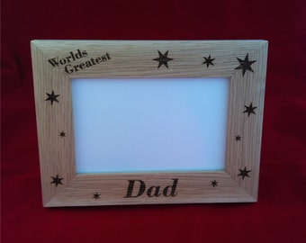 Oak Photo Frame Fathers Day Gift for Him