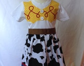 Jessie from Toy Story Inspired T-shirt Dress sizes 2,3,4 (ages 2-6)