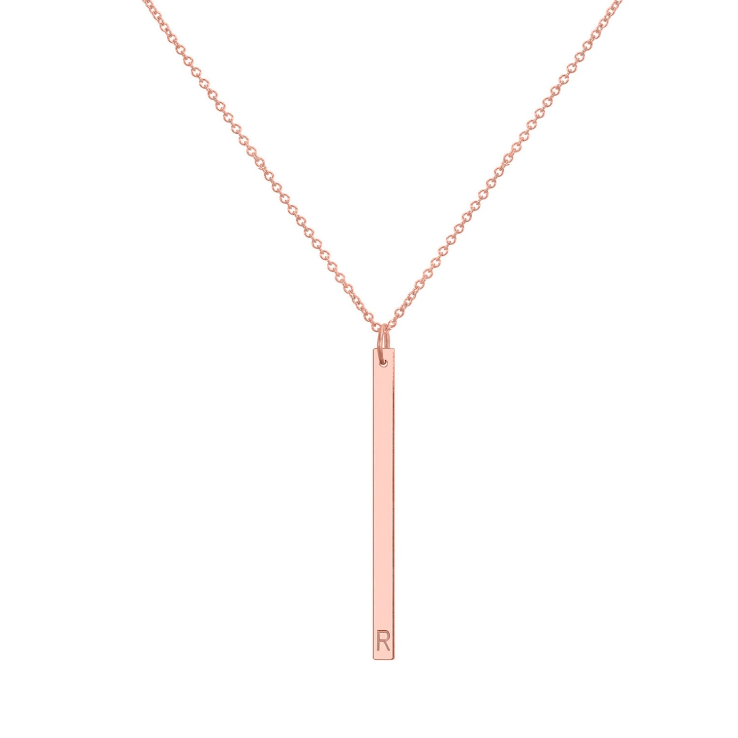 gold bar necklace vertical bar pendant by