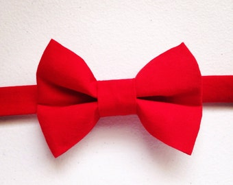 Solid Red Toddler Bow Tie