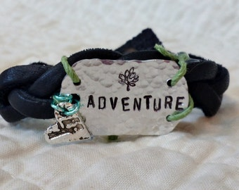Adventure Bracelet with Heart and Teal Accents