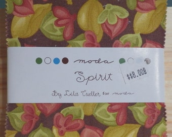 "Spirit by Lila Tueller, 42- 5""x 5"" Charm Pack Precut Quilting Fabric"