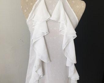 Beautiful Romeo & Juliet Couture Sheer Halter Top Size Medium