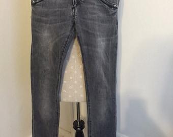 Miss Sixty Aged Denim Skinny Jeans Size 24