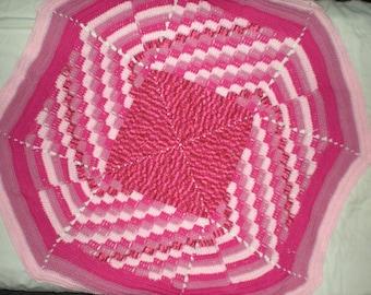 Pink Diagonal Throw Blanket