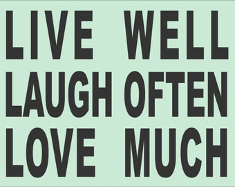 live well laugh often love much word stencil whimsical. Black Bedroom Furniture Sets. Home Design Ideas