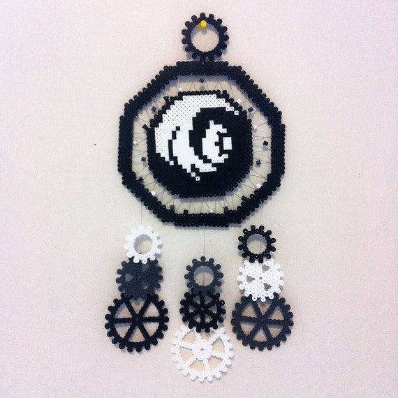 Items similar to little machines perler bead dreamcatcher for Dreamcatcher beads meaning