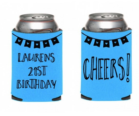 Birthday Coozie Custom Name And Age 21st By EmmyBelleDesigns