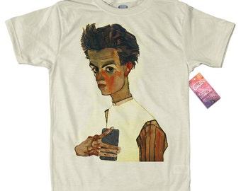 Egon Schiele T shirt Design, selfie portrait