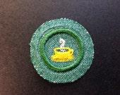 Vintage 1940s Girl Scout Merit Badge for Hospitality New