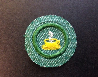 Vintage 1940s Girl Scout Merit Badge for Hospitality New