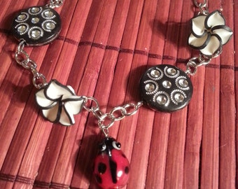 Ladybug Chain Linked Bracelet