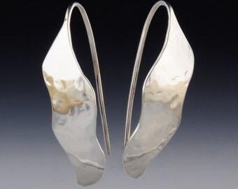 e 68 - Threader Earrings - Artists Earrings - Jewelry as Art - Art Jewelry