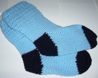 Crochet Sky Navy Socks
