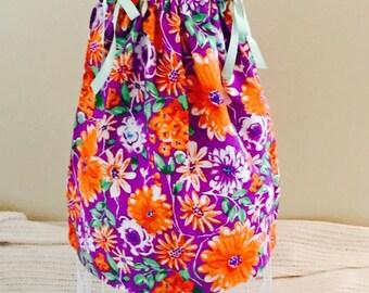 Orange Flower Dress: Size 4